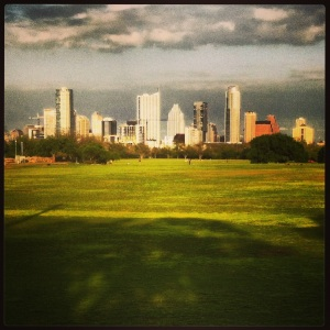 Downtown view from Zilker