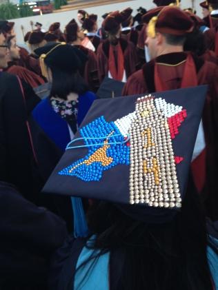 A bedazzled cap