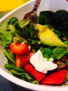 Fed Up Approved Avocado and Strawberry Salad