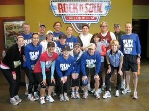 Coaching at the St Jude Marathon