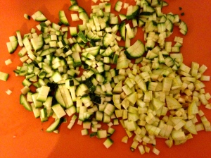 Almost diced veggies
